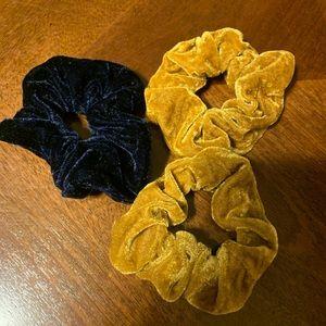 Accessories - 3 Velvet Scrunchies VSCO